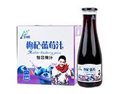 妙畅蓝莓汁饮料1.5L×6瓶