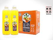 惠康益生菌发酵复合百香果汁饮料1.25L×6瓶