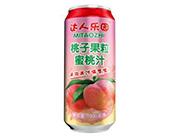 达人乐园桃子果粒罐装