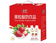 ��草莓果粒酸奶�品310ml×10瓶�Y盒