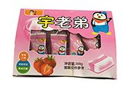 宇老弟草莓口味果味奶糖300g