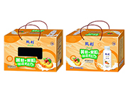 甄利�S桃+果粒酸奶�品�Y盒