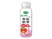 京��郎果�r刻草莓椰果果粒奶昔310ml