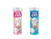 字母羊奶片压片糖果净含量24克