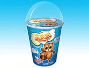 乐彩猫造型饼干50g牛奶味+多款玩具