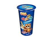 乐彩猫蘸酱杯手指饼干巧克力味