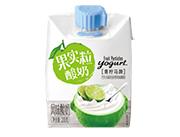 青汁果粒酸奶