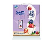 友芝友混合莓味水果奶昔酸奶�品�@包�Y盒200g×12盒