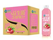 奥尚草莓风味益生菌发酵复合果汁饮料1.5L×6瓶