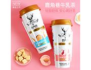 鹿角巷牛乳茶 杯�b奶茶�料 黑糖鹿丸牛乳茶新品招商480ml