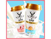 鹿角巷白桃味�觚�牛乳茶 杯�b奶茶�料 低糖低脂奶茶招商 新品上市480ml