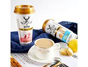 鹿角巷 低糖低脂 黑糖鹿丸牛乳茶新品招商 奶茶�料代理 奶茶招商加盟480ml