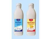 希雅醇原味酸奶、黄桃果粒酸奶