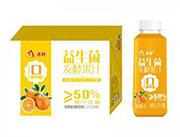 鲜橙味益生菌发酵果汁1.2Lx18瓶