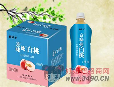 鑫养卫白桃果汁饮料1.25Lx6瓶
