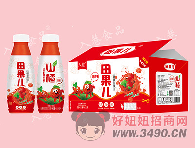 入巷田果儿山楂复合果汁450ml×15瓶