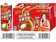 椰星红毛丹水果饮料简箱240g