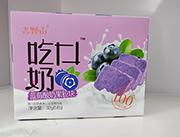 吉野山吃口奶蓝莓酸奶果粒块