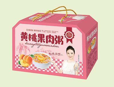 绿之源黄桃果肉粥箱装