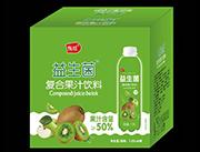 益生菌复合果汁饮料猕猴桃味1.25L箱装