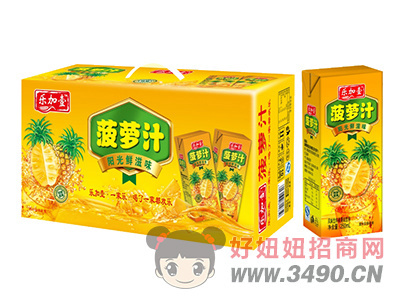 乐加壹菠萝汁饮料利乐包250ml礼盒