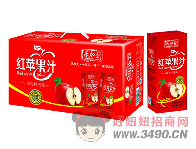 乐加壹红苹果汁250ml