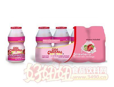 卡德�{斯草莓味乳酸菌四�B包