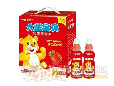 六益��彤乳酸菌�品草莓味200ml*16瓶�Y盒�品