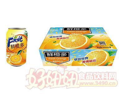 鲜橙多碳酸型饮料330ml*24罐