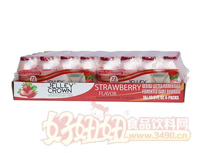 捷利冠草莓味乳酸菌�品100ml×40瓶