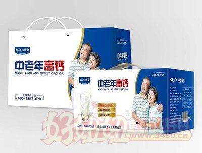 味动力乳业中老年高钙奶礼盒1x12盒