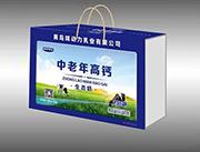 味动力乳业中老年高钙生态奶手提装1x12盒