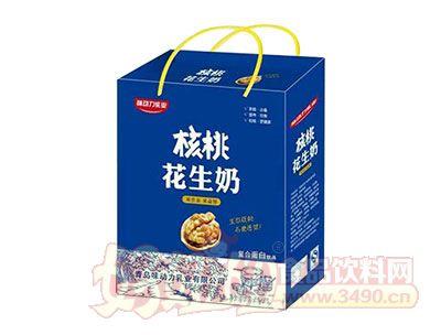 味动力乳业核桃花生奶(蓝)手提装1x12盒