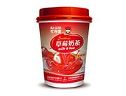 可利客草莓味奶茶