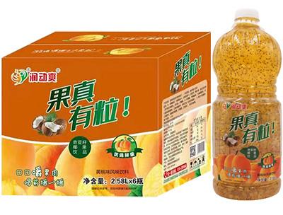 ���铀��S桃果粒�秃瞎�汁�料2.58LX6瓶