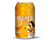 橙心橙意橙味气泡饮料