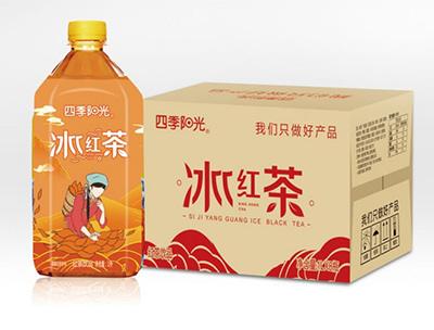 四季阳光冰红茶饮品1L*8瓶