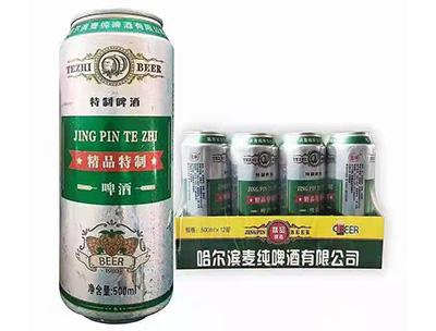哈尔滨麦纯精品特制啤酒