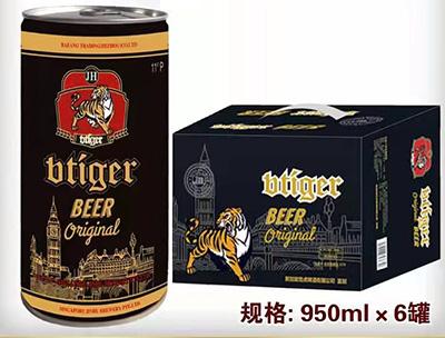 劲虎原浆黑啤酒950ml