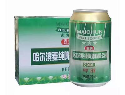 哈尔滨麦纯啤酒320ml