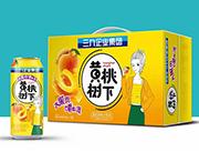 黄桃树下果粒黄桃汁饮品500ml