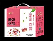 甄瑶酸奶饮品草莓味145g*9