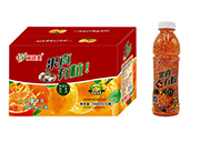 果真有粒红桔果粒复合果汁饮料550ml