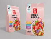 果子�_�C酸奶草莓果粒燕��片300g