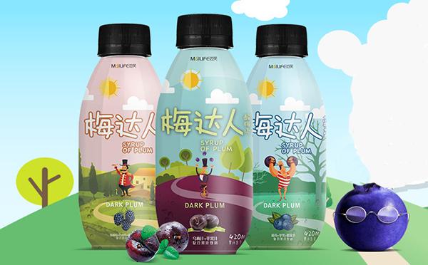 迈芙梅达人果汁 趣味包装 深受市场宠爱