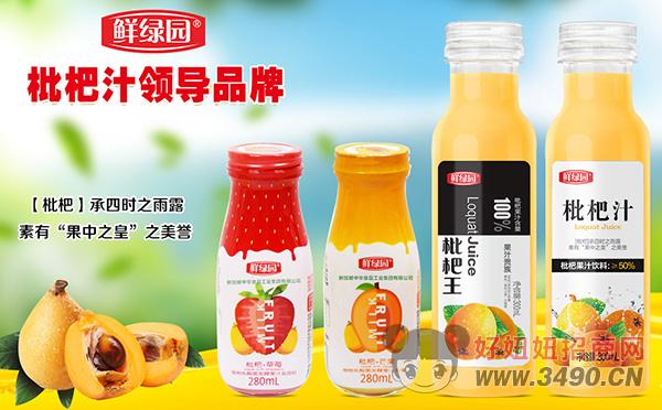 均衡营养,势不可挡!鲜绿园(深圳)果蔬饮料开启枇杷汁新时代!
