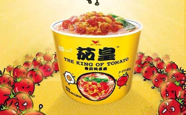 统一推出一款茄皇方便面  突出特点是更年轻化