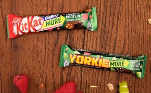 雀巢推出两款新的巧克力棒 添加了纤维和蛋白质