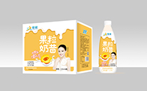 增健大瓶果粒奶昔纤手遮,一款可以嚼着喝的奶昔