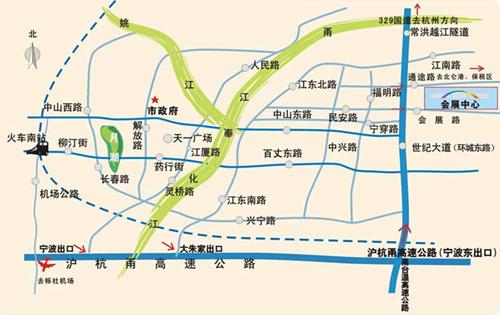宁波糖果展会会场地理位置图